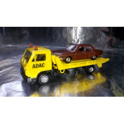 * Herpa Basic 094191A1BR MAN G 90 Wrecker ADAC with Audi 100 LS Car load