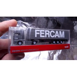 * Herpa 065801 MAN TGX Curtain Canvas Semitrailer Fercam 1:160 N Scale