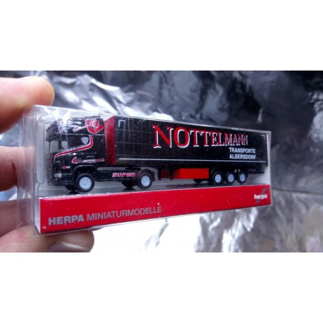 * Herpa 066105 Scania R 04 TL Curtain Canvas Semitrailer Nottelmann 1:160 Scale