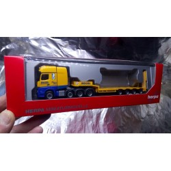"""* Herpa Trucks 306027  Mercedes-Benz Actros SLT low boy semitrailer """"Regel"""""""