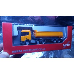* Herpa Trucks 309394  Scania CR ND XT 6x2 dump semitrailer, communal orange