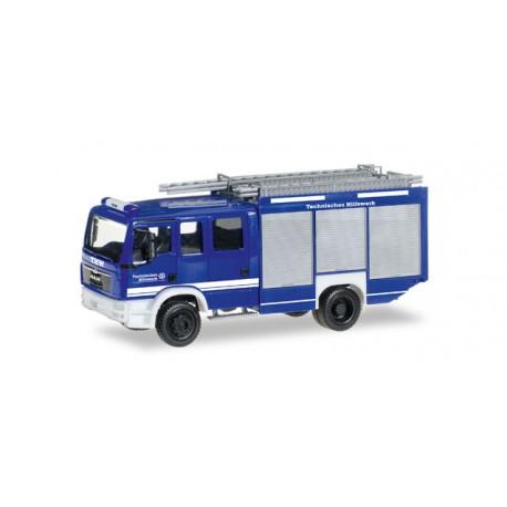 """* Herpa Trucks 092593  MAN TGM Euro 6 box truck """"THW"""""""