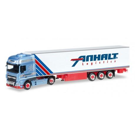 "* Herpa Trucks 306348  DAF XF Euro 6 SSC refrigerated semitrailer ""Anhalt"""