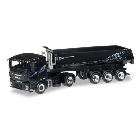 "* Herpa Trucks 306218  MAN TGX XL dump semitrailer ""Wagner"""