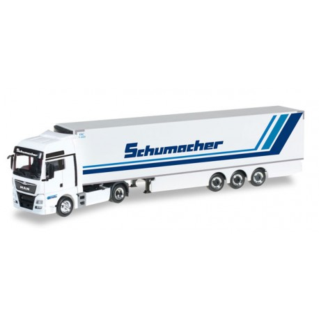 "* Herpa Trucks 306263  MAN TGX XXL Euro6 refrigerated box semitrailer ""Spedition Schumacher"""