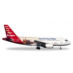 """* Herpa Wings 558075  CSA Czech Airlines Airbus A319 """"Prague - City of Magic"""""""