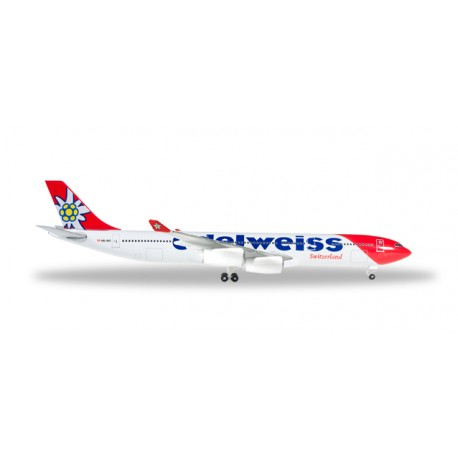 * Herpa Wings 529495  Edelweiss Air Airbus A340-300