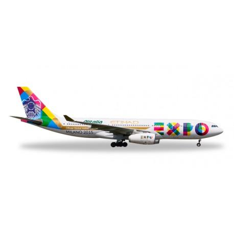 """* Herpa Wings 529501  Etihad Airways Airbus A330-200 """"Expo Milano"""""""