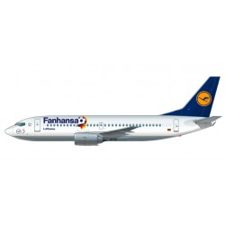 "* Herpa Wings Snapfit 611220  Lufthansa ""Fanhansa"" Boeing 737-300"