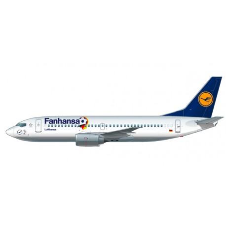 "* Herpa Wings Snapfit 611183  Lufthansa ""Fanhansa"" Boeing 737-300"