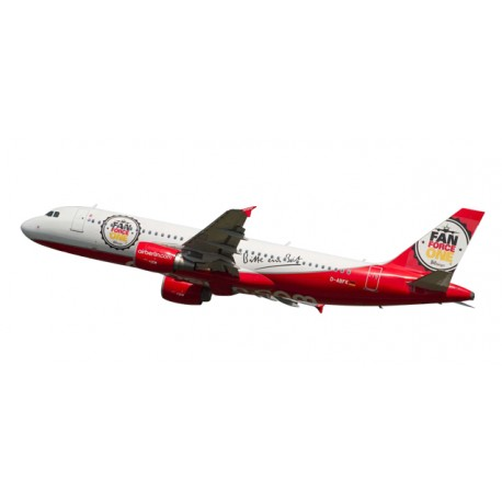 "* Herpa Wings Snapfit 611213  airberlin Airbus A320 ""Fan Force One"""
