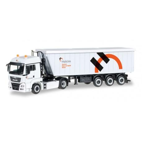 "* Herpa Trucks 306171  MAN TGS LX Euro 6 Kempf Stöffel-Liner truck semitrailer ""Holcim"" (CH)"