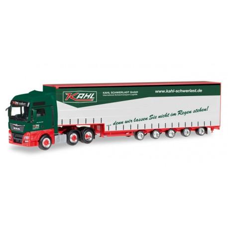 "* Herpa Trucks 306294  MAN TGX XXL Euro 6 6x2 Meusburger semitrailer ""Kahl Schwerlast"""