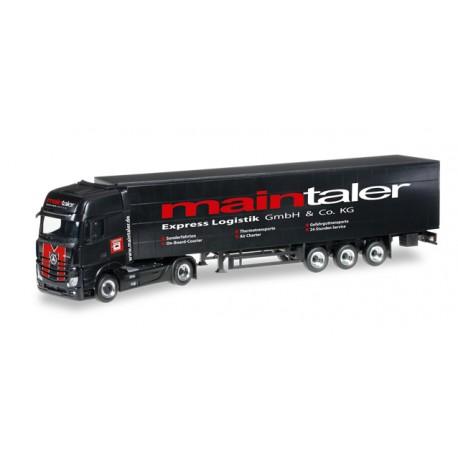 "* Herpa Trucks 306300  Mercedes-Benz Actros Gigaspace curtain canvas semitrailer ""Maintaler"""