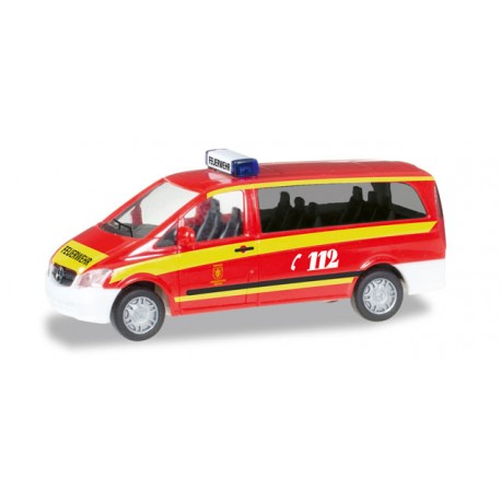 """* Herpa Cars 092630  Mercedes-Benz Vito ELW """"Muenchen fire department"""""""