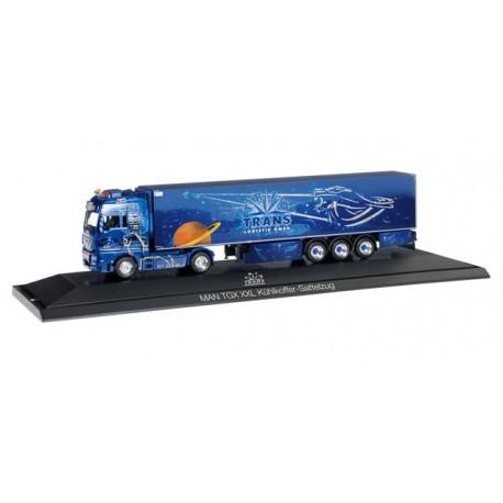 """* Herpa Trucks 121705  MAN TGX XXL refrigerated box semitrailer """"Trio-Trans"""""""