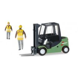 "* Herpa Construction 305303  Jungheinrich fork lifter with Preiser-figure ""Spedition Wandt"""