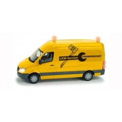 "* Herpa Diorama 461573  Mercedes-Benz Sprinter ""Truck Service"", with light and figure"