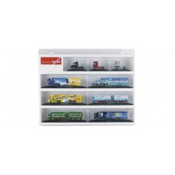 * Herpa Display 029247  Showcase for PC tractor and trailer white, (22.4 in. x 17.7 in. x 3.2 in.)