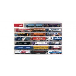 * Herpa Display 029254  Truck showcase (white), European lenght (25.4 in. x 17.7 in. x 1.4 in.)