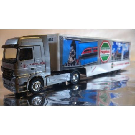 "* Herpa Trucks ? 149013  Mercedes-Benz Actros LH Safeliner semitrailer ""Zentrallager Weser-Ems"""