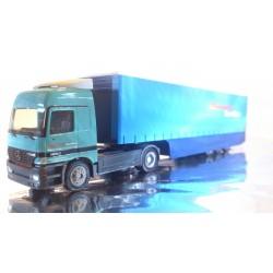 """* Herpa Trucks 147392  Mercedes-Benz Actros L Krone-Safeliner curtain tarp semitrailer """"Dehnhardt"""""""