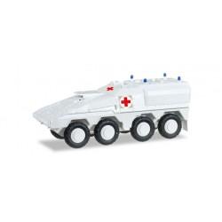 """* Herpa Military 745338  GTK Boxer weiß """"UN Sanitäts-Radpanzer"""""""
