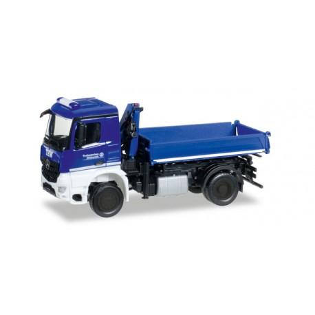 "* Herpa Trucks 092562  Mercedes-Benz Arocs dump truck with crane ""THW"""