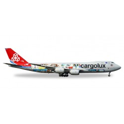 "* Herpa Wings 558228  Cargolux Boeing 747-8F - 45th Anniversary ""City of Redange-sur-Attert"""