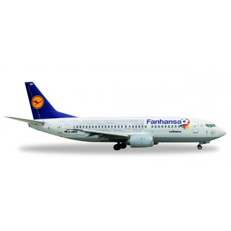 "* Herpa Wings 562546  Lufthansa Boeing 737-300 inkl. Stand ""Fanhansa"""