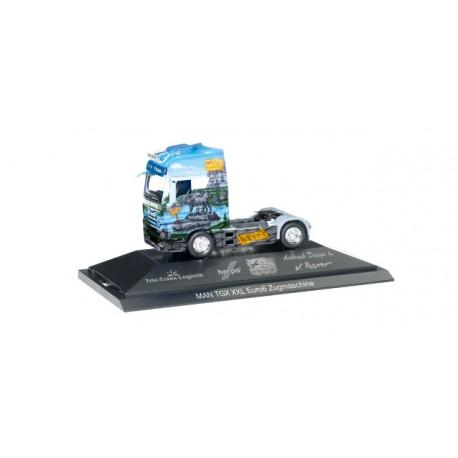 """* Herpa Trucks 110839  MAN TGX XXL Euro 6 rigid tractor """"Herpa Weltgeschichte Nr. 12, Römer"""""""