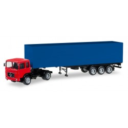 * Herpa Minikit Trucks 012799  Herpa MiniKit: MAN F8 box semitrailer