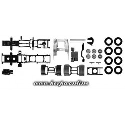 * Herpa Spare Parts 082433  chassis for tractor Scania R forward-stroke 3-axle Content: 2 pcs.
