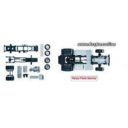 * Herpa Spare Parts 083652  Mercedes-Benz Actros 2011 chassis for tractor Content: 2 pcs