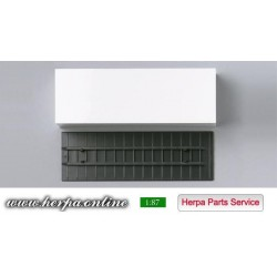 * Herpa Spare Parts 080439  Beverage box with base plate (7,45m) Content: 2 pieces