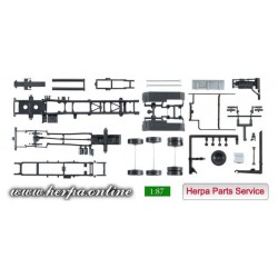 * Herpa Spare Parts 084260  chassis for tractor MAN TGX Euro 6 with roll-off kinematics Content: 2 pieces