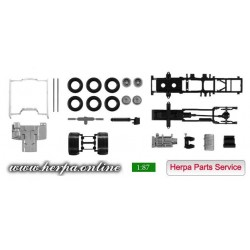 * Herpa Spare Parts 084550  Chassis DAF XF Euro 6 with Chassis Content: 2 pieces