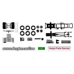 * Herpa Spare Parts 084567  Chassis DAF XF Euro 6 without Chassis Content: 2 pieces