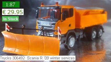 Herpa Trucks 306492  Scania R `09 winter services - This article is Currently in stock and available