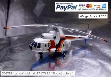 """556798 Luftwaffe Mil Mi-8T LTG 65 """"Fly-out colors"""" - Scale 1:200"""